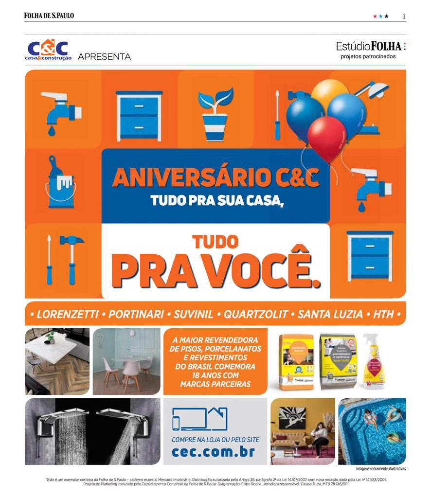 Tabloide Aniversário C&C Edição - 2