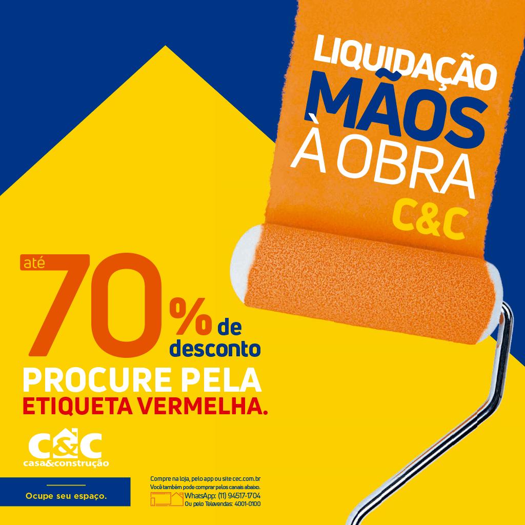 Liquidação Mãos à Obra - São Paulo