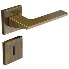 Fechadura Interna com Roseta Quadrada Sara Bronze Oxidado - Pado