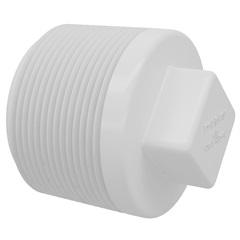 """Plug Rosca em Pvc 1/2"""" Branco"" - Fortlev"