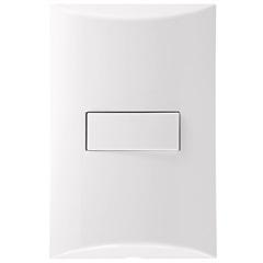 1 Interruptor Simples 4x2 Brava Branco