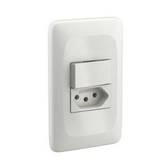 1 Interruptor Simples E 1 Tomada 2p+T com Placa 4x2 Zuli Ref.: Lzx103 - Pial Legrand