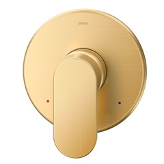 Acabamento Monocomando para Chuveiro Alta Pressão/Baixa Pressão 3/4'' Kaila Ouro Escovado - Docol