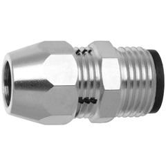 Adaptador Bruto para Instalação de Gás Macho 1/2''X3/8'' Niquelado - Blukit