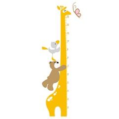 Adesivo para Parede Girafa Métrica 50x70cm com 1 Peça - Evolux