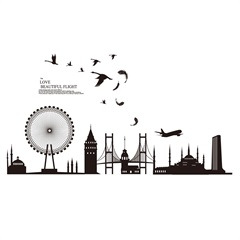 Adesivo para Parede London Urban 60x90cm com 1 Peça - Evolux