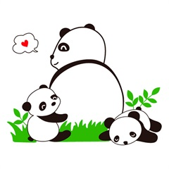 Adesivo para Parede Panda 50x70cm com 1 Peça - Evolux