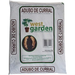 Adubo de Curral Saco com 2kg - West Garden
