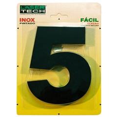 Algarismo em Inox Número 5 Preto 15cm - Display Show