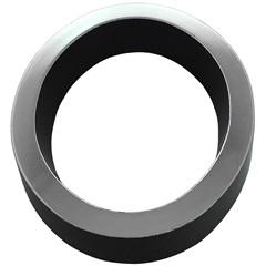 Algarismo em Plástico Número 0 Metalizado E Preto 8cm - Fixtil