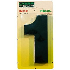 Algarismo Número 1 Inox Preto 15cm - Display Show