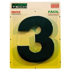 Algarismo Número 3 em Inox Preto 15cm - Display Show