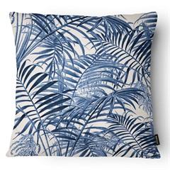 Almofada Decorativa Outdoor 023 43x43cm Azul E Bege - Belchior