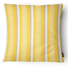 Almofada Decorativa Outdoor 039 43x43cm Amarelo E Bege - Belchior