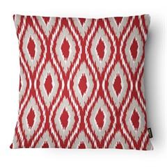 Almofada Decorativa Realce 080 40x40cm Bege E Vermelha - Belchior