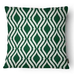 Almofada Decorativa Realce 081 40x40cm Bege E Verde - Belchior