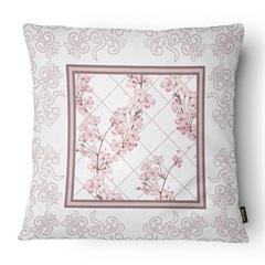 Almofada Decorativa Serenity 080 50x50cm Bege E Rose - Belchior