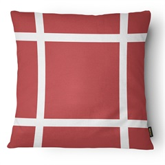 Almofada Decorativa Serenity 100 50x50cm Bege E Vermelha - Belchior