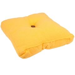 Almofada em Algodão Futton 40x40cm Amarela - Casa Etna