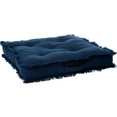 Almofada em Algodão Futton Ibizza 50x50cm Azul - Casa Etna