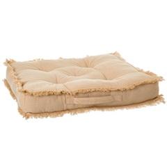Almofada em Algodão Futton Ibizza 50x50cm Bege - Casa Etna
