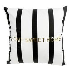 Almofada em Poliéster Home Sweet Home 45x45cm Preta - Casanova