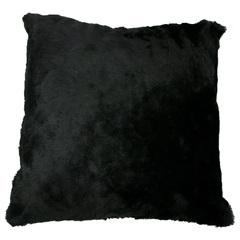 Almofada em Poliéster Pelo 43x43cm Preta - Próxima Têxtil