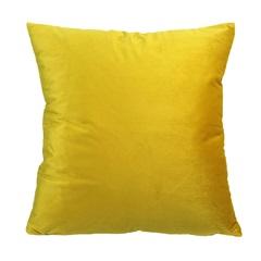 Almofada em Poliéster Veludo 45x45cm Amarela - Casanova