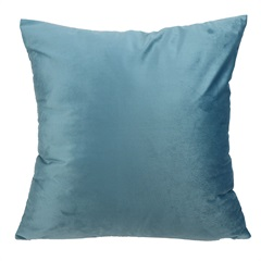 Almofada em Poliéster Veludo 45x45cm Azul - Casanova