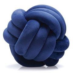 Almofada Escandinava em Poliéster Nó 20x20cm Azul Marinho - Jolitex