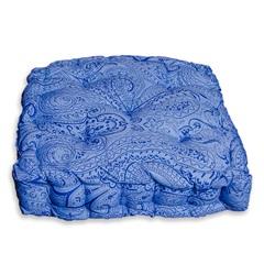 Almofada Futton Paris Echarpe 43x43cm Azul - Casa Etna