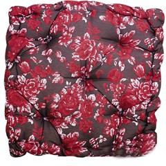 Almofada Futton Paris Floral 43x43cm Vinho - Casa Etna