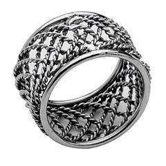 Anéis para Guardanapo em Alumínio Delhi 3x4,5cm com 4 Peças  - Wolff Delhi