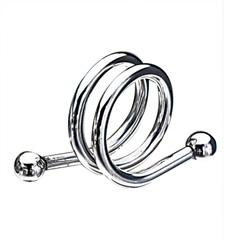 Anéis para Guardanapo em Inox Espiral com 6 Peças Cromado - Wolff