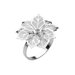 Anéis para Guardanapo em Inox Flower com 4 Peças - Prestige