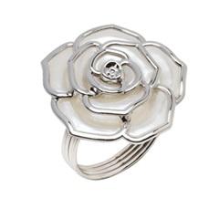 Anéis para Guardanapo em Inox Rose com 4 Peças - Prestige
