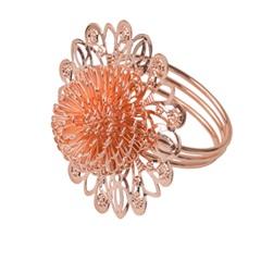 Anéis para Guardanapo em Inox Rose Gold com 4 Peças - Prestige