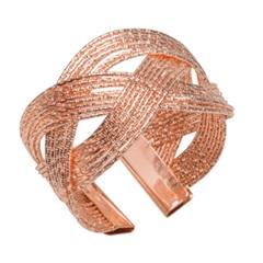 Anéis para Guardanapo em Inox Spiral Rose Gold com 4 Peças - Prestige