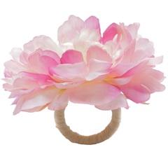 Anéis para Guardanapo em Plástico Flor de Viúva Rosa Antigo com 4 Peças - Bon Gourmet