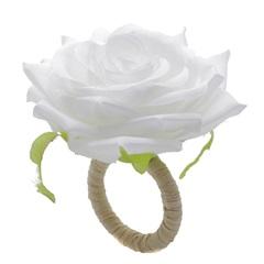 Anéis para Guardanapo em Plástico Rosa Branca com 4 Peças - Bon Gourmet