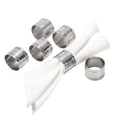 Anéis para Guardanapo em Prata Elegance com 6 Peças - Wolff