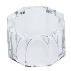 Anéis para Guardanapo em Vidro Ótico Round 5x3cm com 4 Peças - Bon Gourmet