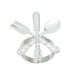 Anéis para Guardanapo em Zamac Cutlery Cromado com 4 Peças - Bon Gourmet
