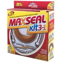 Anel de Vedação em Cera Engate Flexível Inox 40cm E Kit de Fixação Completo 10mm em Latão - Maxseal