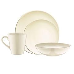 Aparelho de Jantar em Cerâmica 16 Peças Marfim