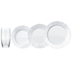 Aparelho de Jantar Pétala com Copos 16 Peças - Nadir