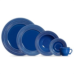 Aparelho de Jantar Poppy em Cerâmica com 20 Peças Azul - Scalla