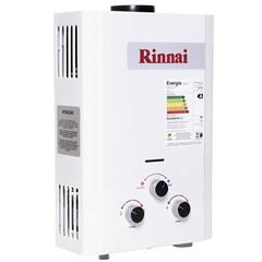 Aquecedor de Água a Gás Analógico 7,5 Litros Glp Branco - Rinnai