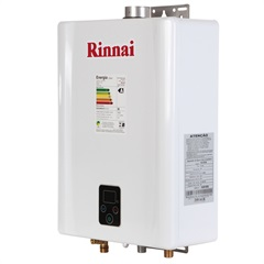 Aquecedor de Água a Gás Digital Bivolt Glp E17 Branco - Rinnai