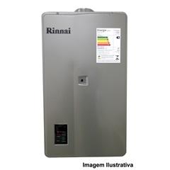 Aquecedor de Agua a Gás Reu 2402 Gn 32,5 Litros Prata Bivolt   - Rinnai